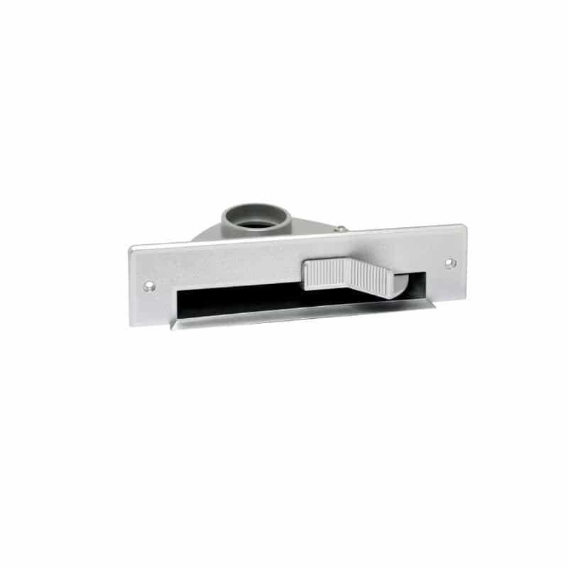 Saugsteckdose VAC PAN ACTIVE für Möbel in grau metallisiert